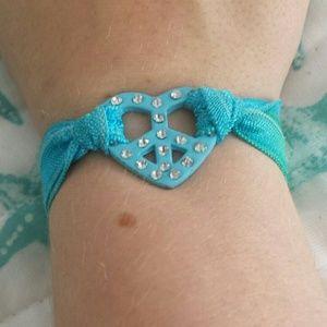 Other - Tie Dye Rhinestone Heart Bracelet